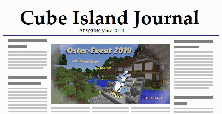Cube Island Journal März 2019