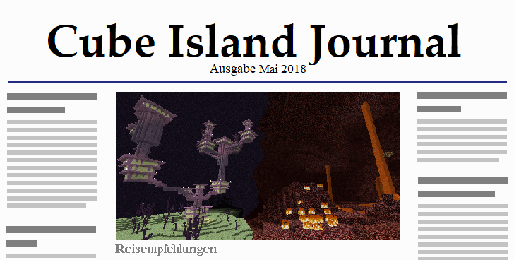 Cube Island Journal Mai 2018